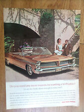 1963 Pontiac Bonneville Convertible Ad  Do You Need any More Reasons AF/VK