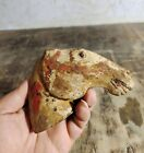 ANCIENT CHINESE Antique Han Dynasty POTTERY horse's head with painting. 汉彩绘马头