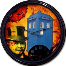 Doctor Who Tardis Steampunk Whovian Wall Clock Police Box Time Travel London UK