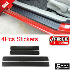 4 Pcs 4D Carbon Fiber Car Accessories Door Sill Scuff Protector Stickers & Tool@