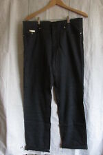 // ST. Dupont Men's Cotton Blend Heather Navy Casual Pants Size 42/38in