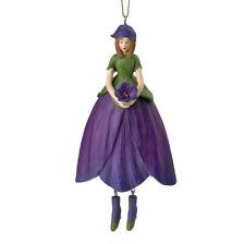 Blumenmädchen Fee Deko Figur Veilchen hängend