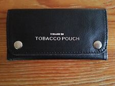 Good Quality Soft Leather Tobacco Pouch Fully Lined NEW BLACK