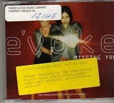 (BN439) E'Voke, Missing You - 1998 DJ CD