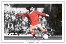 GEORGE BEST MANCHESTER UNITED MAN UTD AUTOGRAPH SIGNED PHOTO SOCCER