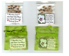 50 Lime colored WEDDING FAVOR Bags  with ROSE OF SHARON SEEDS INSIDE + POEM