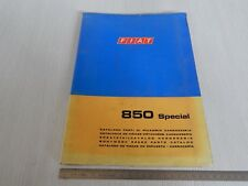 CATALOGO PARTI DI RICAMBIO ORIGINALE CARROZZERIA FIAT 850 SPECIAL 1969 2 EDIZ.