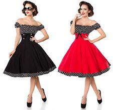 Schulterfreies Swing-Kleid Retrokleid Tellerrock Belsira 50er Jahre Stil 50058