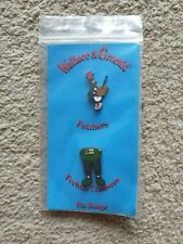 Wallace And Gromit -  Feathers & Techno Trousers Pin Badge 1989