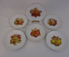 Set Of Six German Democratic Republic Kahla Bone China Fruit Plates