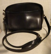 COACH G8P 9087 Black Leather Shoulder Cross Body Handbag Vintage