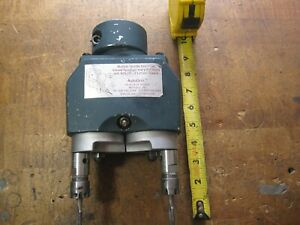 AutoDrill twin spindle drill head collett chuck style
