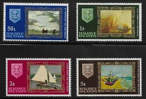 Maldive Islands Scott #262-65, Singles 1968 Complete Set FVF MNH