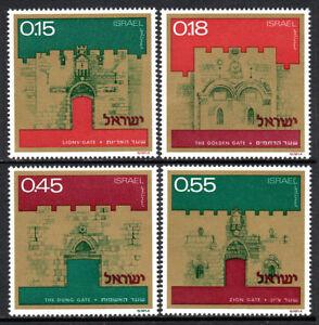 Israel 488-491, MNH. Gates of Jerusalem: Lions', Golden, Dung, Zion, 1972