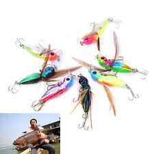 8PCS/Set 4.5cm 3.6g Cicada Bass Insect Fishing Lures Crank Baits Floating Tac YL