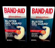 x2 Band-Aid Blister Gel Guard For Toes 8ct ea (PACK OF 2)