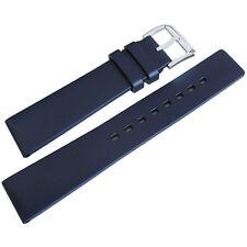 20mm Hirsch Pure Mens Blue Caoutchouc Rubber Waterproof Dive Watch Band Strap
