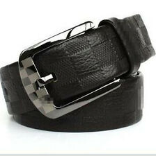 New Style High Quality Mens Check Belt 100% Leather Belt Top Italy Leather