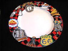 "New SAKURA ROADSIDE Route 66 dinnerware 9-3/4"" DINNER PLATE Dishes by Sue Zipkin"