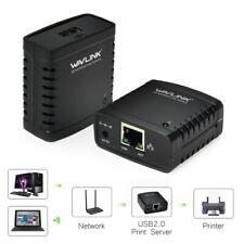 UK_ USB 2.0 Printer Network TCP/IP LPR Print Server Share LAN Networking Adapter