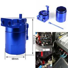 Car Oil Catch Tank Can Reservoir 300ml Aluminum Baffled Blue Oil Catch Tank Kit