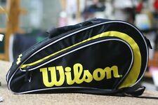 Wilson Racquetball Rak Pak Bag, Black Yellow color