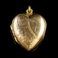 ANTIQUE VICTORIAN HEART LOCKET 9CT YELLOW GOLD