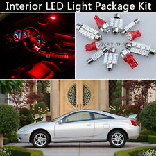 4PCS Bulbs Red LED Interior Car Light Package kit Fit 2000-2005 Toyota Celica J1