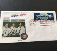 Apollo Soyuz NASA The Epic Flight 1975 Stamp Envelope First Day Of Issue