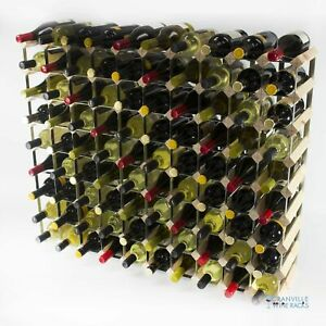 Cranville wine rack storage 90 bottle pine wood and metal wine rack self build