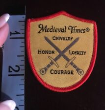 Medieval Times Embroidered Iron Patch Chivalry Honor Loyalty Courage Girl Scouts