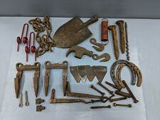 34 Lot of Rusty Iron Industrial Steampunk Art Farm Steel J1