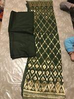 New Banarsi Silk Wedding Duppatta Salwar Kameez Unstitched Suit