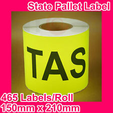 10 Rolls of State Label/Pallet Label - TAS (150mm x 210mm, 4650 Labels in total)