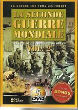 COFFRET 5 DVD--DOCUMENTAIRE--LA SECONDE GUERRE MONDIALE VOL.2 - ARCHIVES INEDITE