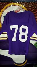 STEVE RILEY #78 MINNESOTA VIKINGS GAME USED HOME PURPLE JERSEY 1970's #2