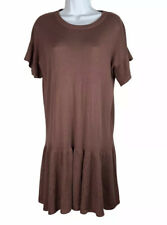 H&M Womens Sweater Dress XS Oversized Stretchy Drop Waist Flutter Sleeve Pleated