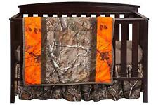 REALTREE AP 3 Piece 100% POLYESTER Crib Set CAMO Bedding SNUGGLY Owls OUTDOORS