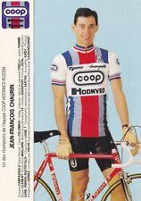 CYCLISME carte cycliste JEAN-FRANCOIS CHAURIN équipe COOP HONVED ROSSIN 1984
