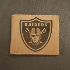 Oakland Raiders Wallet Laser Engraved