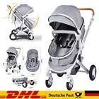 Luxus Kinderwagen Alu 3 in 1 Babyschale Autositz Babywanne Sportsitz DHL