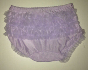 LAURA DARE Ruffle Rhumba Diaper Cover Infant Blush Pink Red Black Lilac SOFT!!