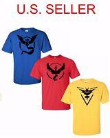 Pokemon T Shirt Tee Go Team Valor Team Mystic Instinct Pokeball T-Shirt