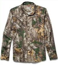 Under Armour Camo chesapeake LS Long Sleeve Button Down Shirt Realtree Mens sz L