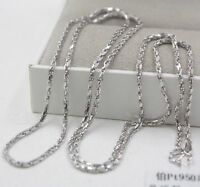 PT950 Pure Platinum 950 Chain Men Special Fashion Rope Necklace/ 20.6g/ 27.5inch
