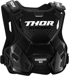 Thor Youth Guardian Chest Guard Sm/Md Charcoal/Black 2701-0861