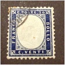 REGNO 1862 EFFIGE DI VITT.E.III 20 CENT ANNULLATO  ALTO VALORE
