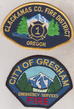 City of Gresham & Clackamas County Fire District 1 OR Fire Department patches
