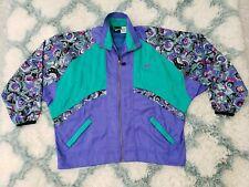 Vintage NIKE Colorblock Windbreaker Track Jacket Swoosh Women's Size Large 14