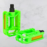 "Replacement Kids Bicycle Pedals Standard Childrens Bike 1/2"" Thread Green"